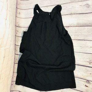 Tyche Women's HIgh Neck Ruffle Collar Tank Dress